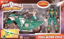 Power Rangers Ninja Storm Transforming Glider Cycle Green Samurai Ranger (MISB)