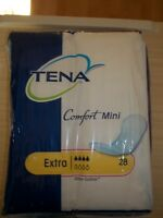 Tena Comfort Mini Extra Incontinence Pads.  Pack of 28 Unopened.