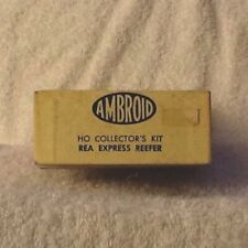 AMBROID HO SCALE SPEEDY POULTRY & REEFER COMBINATION CAR WOOD MODEL KIT VINTAGE