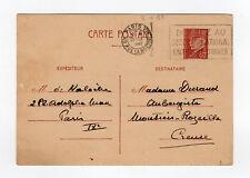 France entier postal sur carte postale tampon Paris 1941 flamme DONNER  /L864