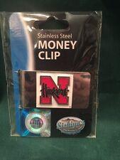 Nebraska Cornhuskers Stainless Steel Money Clip New