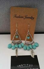 lot bijoux fantaisie turquoise hibou tibétain argent animaux pendantes