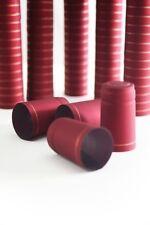 Föhn Schrumpfkapseln Bordeaux ❀ 100 Stück ❀ Schnellschrumpfende Flaschenkapseln