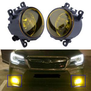 Pair Fog Light Lamp H11 Bulb Yellow for Honda CRV Pilot Acura ILX RDX TSX Subaru