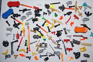 LEGO Bulk 113 Minifigure WEAPON Block MIX guns swords light saber (E78) GENUINE