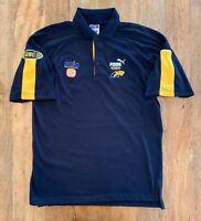 West Coast Eagles Polo Shirt Puma Mens Small AFL On Field Vintage