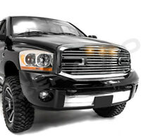 Big Horn+3xLED Chrome Grille+Chrome Shell for 06-08 Ram 1500+06-09 Ram 2500+3500
