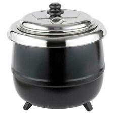 14 Qt Black Electric Countertop Food Soup Kettle Warmer Kitchen Resto 110 Volts