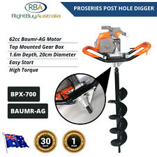 Post Hole Digger Auger BPX-700 62cc 4.1HP 2 Stroke High Torque 200X1600mm Bore