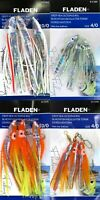 4 Packs Octopus Muppet Fladen Abalone Sea Rigs Fishing Lures 10/0 4/0 Hooks Cod
