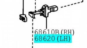 TOYOTA 68620-24010 Front Door Check ASSY LH Genuine LEXUS SC430 SOARER UZZ40