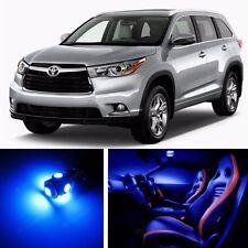 14pcs LED Blue Light Interior Package Kit for Toyota Highlander 2014-2016