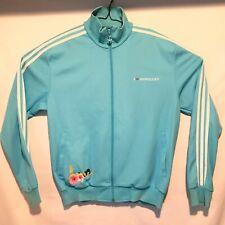 Adidas I Love Honolulu Track Jacket Mens XL Full Zip Turquoise Blue Hawaii RARE