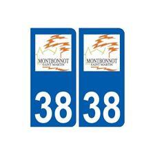38 Montbonnot-Saint-Martin logo ville autocollant plaque stickers -  Angles : ar