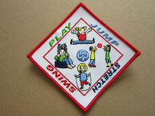 Play Jump Stretch Swing Girl Guides Cloth Patch Badge (L3K)