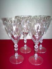 "Fostoria Niagara Crystal #6026/2 7 5/8"" 9 oz Goblets - SET OF 4 - 3 MINT, 1 EXC"