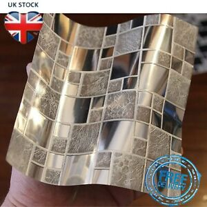 Tile Stickers Waterproof Transfers Cover Kitchen Bathroom Stick On Wall Peel 24x