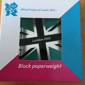 London Olympics 2012 -  Block Paperweight NEW
