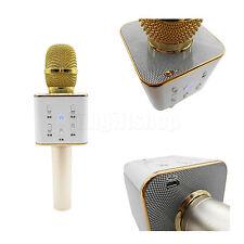 Q7 Wireless Bluetooth Karaoke Handheld Microphone USB Speaker KTV Player Gold