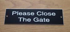 Please Close The Gate Sign x2