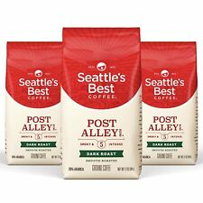 Seattle's Best Coffee Post Alley Blend Dark Roast Ground Coffee 3 Pack, 12 Oz