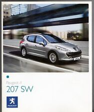 Peugeot 207 SW 2007-08 UK Market Sales Brochure S Sport 1.4 1.6 VTi HDi
