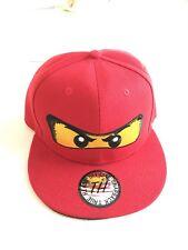 True Heads Red Ninja Block Head Snapback Baseball Cap
