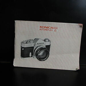 Konica AutoReflex T AR Camera User Guide Manual 39 pages 1971