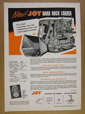 1957 Joy Manufacturing JSL-7 Hard Rock Shovel Loader vintage print Ad