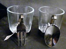 NEW Yankee Candle Fork & Spoon Votive Holder Set Flatware