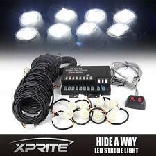 XPRITE 8 LED Bulbs Hide-A-Way Emergency Strobe Light kit - White