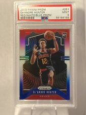 2019-20 Panini Prizm De'Andre Hunter Rookie Red/White/Blue #251 PSA 9 RC Cello