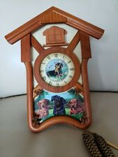 "Bradford Exchange ""Delightful Dachshunds"" Cuckoo Clock, Mint. Works, L/E, Number"