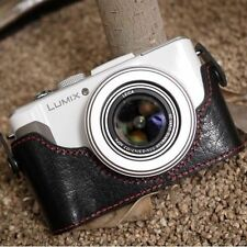 Ciesta CUOIO Fotocamera Case [ Nero / Rosso ] per Panasonic Lumix Lx7
