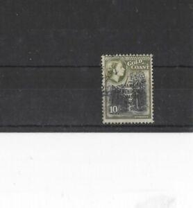 GHANA , 1957, SG181 10s BLACK AND OLIVE, USED...