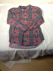 St617 Daniel Cremieux Collection Button-Down Embellished Dress Shirt XL