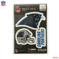 New NFL Carolina Panthers Vinyl Die-Cut Decal Stickers 3-Pack Made in USA