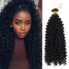 100% Natural Curly Water Wavy Braiding Hair Extensions 1PC Drak Black Braids SD3