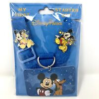 Disney Parks My First Starter Set Mickey Mouse Pluto Pin Lanyard Trading - NEW