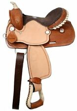 Double T  Youth saddle with suede leather seat 12""