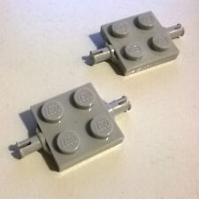 2X LEGO 4600 Plate 2 x 2 with Wheels Holder Gray 2149 3314 107 1896 6600