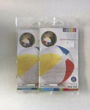 """Intex 20"""" Inflatable Beach Ball Glossy Panel Ball New Free Shipping Lot of (2)"""