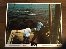 Jaws  Front of House Lobby Cards Original Set Of 8