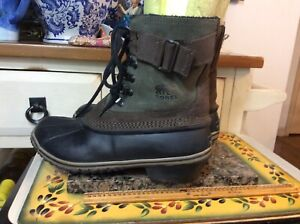 Women's  SOREL NL 2125 Brown/ Taupe Leather lace up Boots Size US 8