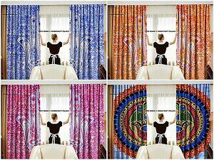 10 Set Wholesale Lot Indian Mandala Curtain Hanging Drape Hamsa fatima Curtains