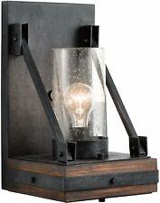 Kichler 43436AUB Colerne Glass Wall Sconce Lighting 1 Light Auburn Stained
