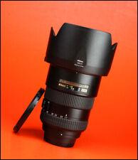 Nikon AF-S 17-55mm F2.8G Lente zoom DX enfoque automático + ED frontal y tapa trasera de objetivo & Capucha