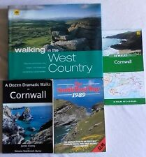 4 x Cornwall / West country / South West walking books, Good Book Bundle,