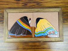 Vintage Hand Painted Original Dolona Roberts Tile Art Ceramic Western Accent