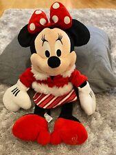 """16"""" Disney Store 2010 Juguete Suave Felpa De Navidad De Minnie Mouse en muy buena condición Regalo De Navidad"""